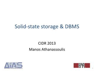 Solid-state storage  &  DBMS