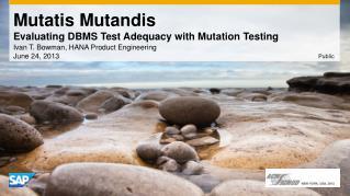 Mutatis  Mutandis Evaluating DBMS Test Adequacy with Mutation Testing