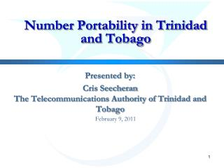 Number Portability in Trinidad and Tobago
