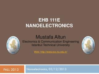 EHB 111E  NANOELECTRONICS