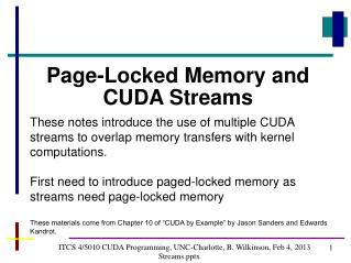 ITCS  4/5010  CUDA Programming, UNC-Charlotte, B. Wilkinson,  Feb 4, 2013 Streamsx