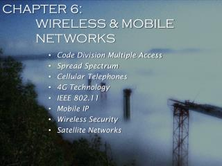CHAPTER 6: WIRELESS & MOBILE NETWORKS