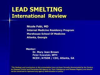 LEAD SMELTING International  Review