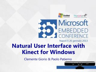 Natural User Interface with Kinect for Windows