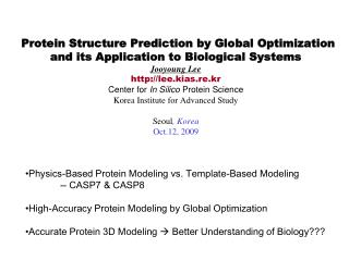 Physics-Based Protein Modeling vs. Template-Based Modeling -- CASP7 & CASP8
