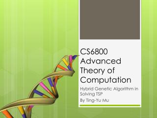 CS6800 Advanced Theory of Computation