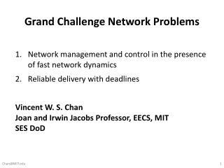 Grand Challenge Network  Problems