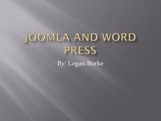 Joomla And Word Press