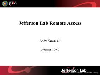 Jefferson Lab Remote Access