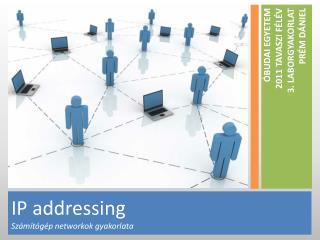 IP  addressing Számítógép  networkok  gyakorlata