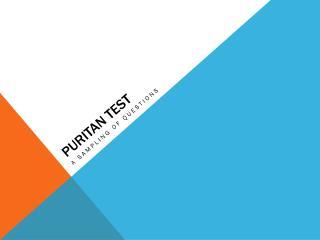 Puritan Test