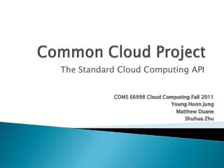 Common Cloud Project