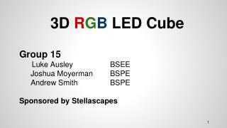 3D  R G B LED Cube