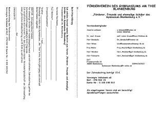 FÖRDERVEREIN DES GYMNASIUMS AM THIE BLANKENBURG