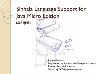 Sinhala Language Support for Java Micro  Edition