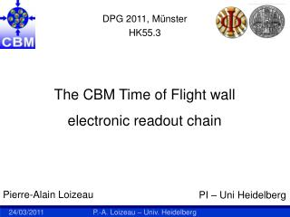 The CBM Time of Flight wall  electronic readout chain