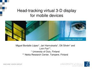 Head-tracking virtual 3-D display for mobile devices
