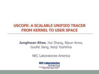 Uscope : A scalable Unified tracer  from kernel to user space