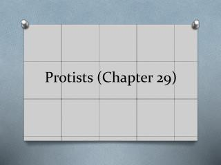 Protists  (Chapter 29)