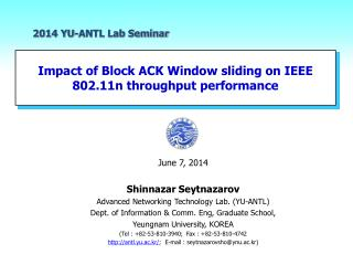 Impact of Block  ACK Window sliding  on  IEEE  802.11n throughput performance