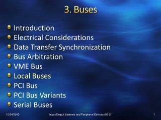 3.  Buses