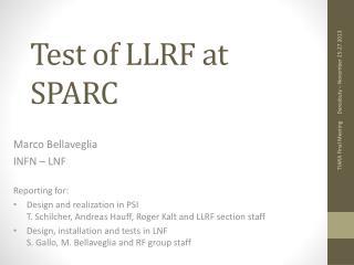 Test of LLRF at SPARC