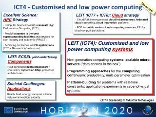 LEIT (ICT7  +  ICT8):  Cloud strategy