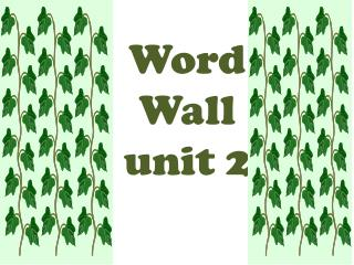 Word  Wall unit 2