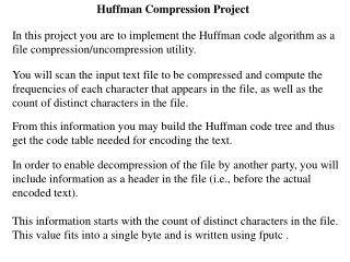 Huffman Compression Project