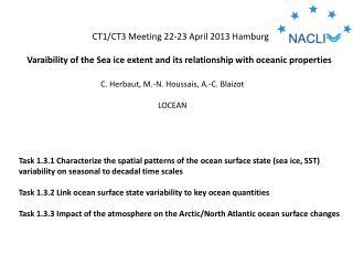 CT1/CT3 Meeting 22-23 April 2013 Hamburg