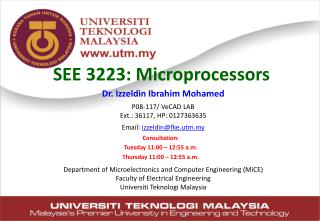 SEE 3223 :  Microprocessors