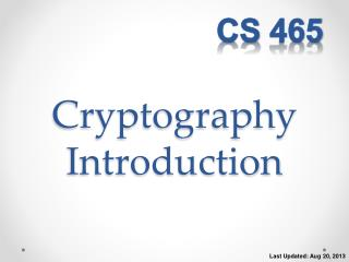 Cryptography Introduction