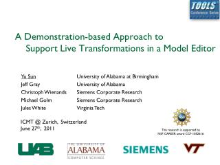 A Demonstration-based Approach to                  Support Live Transformations in a Model Editor