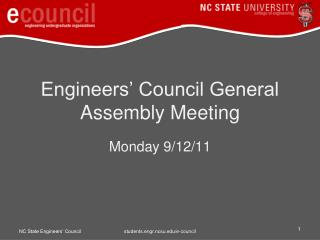 Engineers' Council General Assembly Meeting