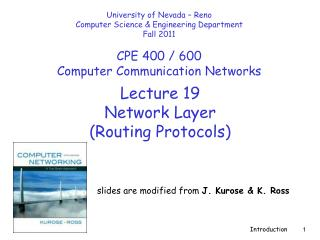 Lecture  19 Network Layer  (Routing Protocols)