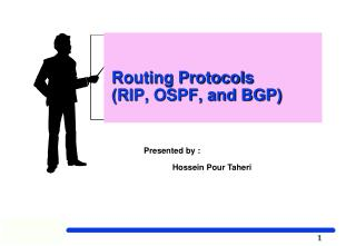 Routing Protocols   (RIP, OSPF, and BGP)