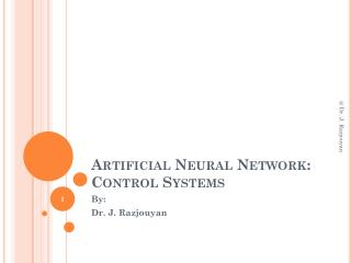 Artificial Neural Network: Control Systems