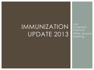 Immunization Update 2013