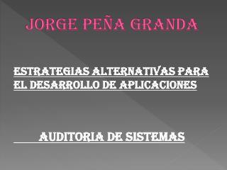 Jorge Peña Granda
