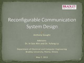 Reconfigurable Communication System Design