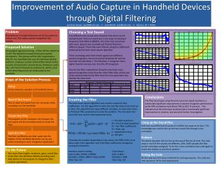 Improvement of Audio Capture in Handheld Devices  through Digital Filtering