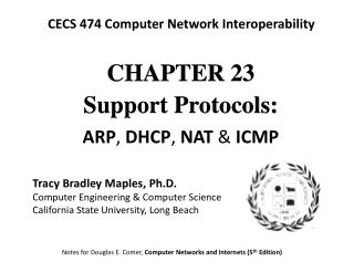 CHAPTE R 23 Support Protocols: A RP , DHCP , NAT  & ICMP