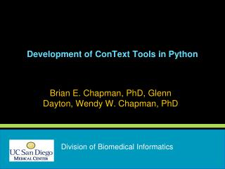Development of  ConText  Tools in Python