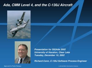 Ada, CMM Level 4, and the C-130J Aircraft
