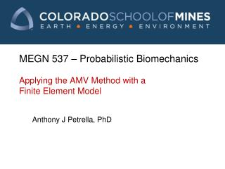 MEGN 537  – Probabilistic Biomechanics Applying the AMV Method with a Finite Element Model