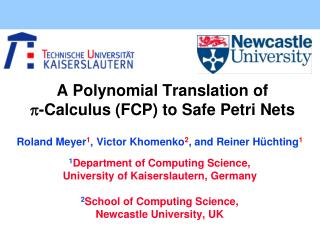 A Polynomial Translation of  - Calculus (FCP) to Safe Petri Nets