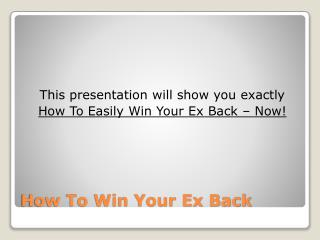 The Best Ex Back System - How Do You Get Back With Your Ex?