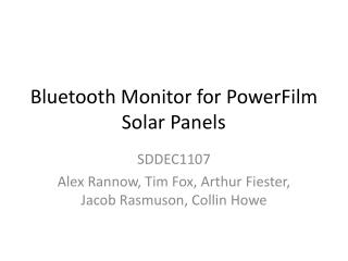 Bluetooth Monitor for  PowerFilm  Solar Panels