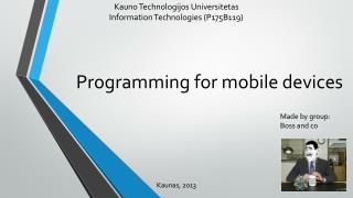 Programming for mobile devices