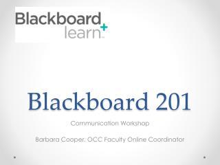 Blackboard 201